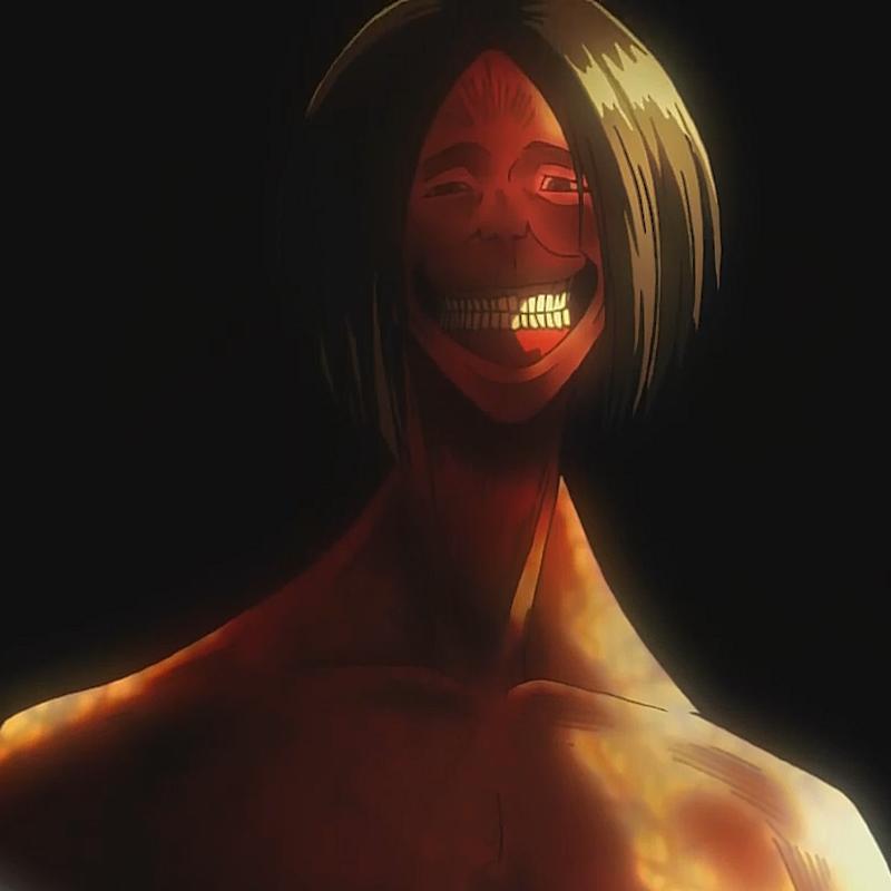 Resultado de imagem para attack on titan smile titan eren yeager