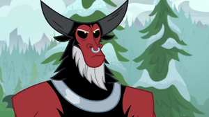 Tirek looking annoyed at the mountain S9E8