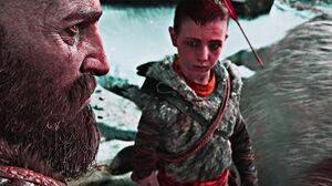 God of War - Kratos Teaching Atreus to Hunt