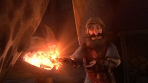 Johann lights up the Dragon eye