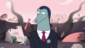 S3E7 Toffee looking down at Ludo