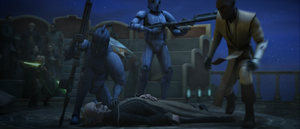 Chancellor Palpatine unconcious