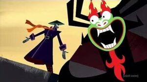 Samurai Jack - Aku Kills the Scaramouche & is the Biological Father of Ashi (Clip) S5E9 C