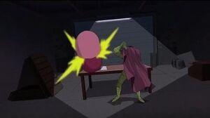 Spectacular Spider-Man (2008) Spider-Man vs Mysterio lair fight part 1 3