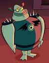Buff frog profile