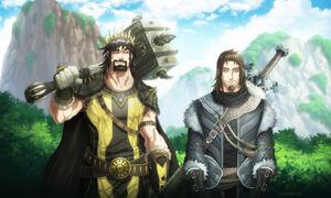 Ned stark and robert baratheon by hueco mundo-d6i1xla