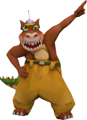 Dingodile crash nitro kart model by crasharki-d9ux63z