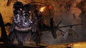 Dark Souls 2 Executioner's Chariot Boss Fight (4K 60fps)