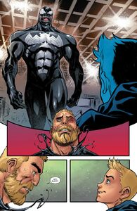 Edward Brock (Earth-616),Venom (Klyntar) (Earth-616), and Dylan Brock (Earth-616) from Venom Venom Vol 4 19 0001