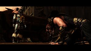 Rain defeated by Kotal Kahn