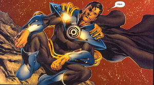 Superboy-Prime-on-the-moon