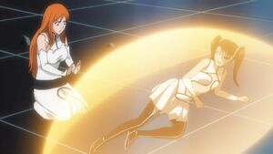 Orihime heals Loly again