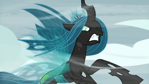 Chrysalis unable to withstand the wind S9E8