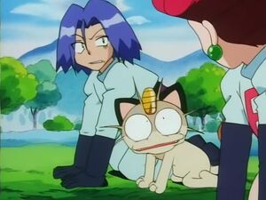 James and Meowth see Jessie's haircut