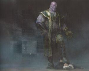 Avengers Infinity War Thanos concept art 12