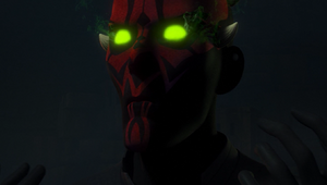 Maul glowing