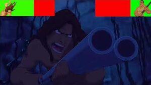 Tarzan Vs Clayton. ( With healthbars