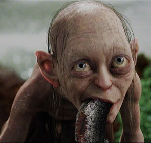 Gollum eating fish
