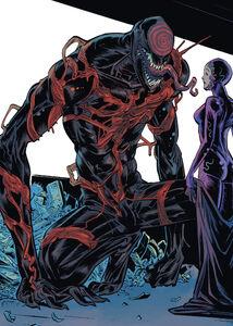 Grendel (Klyntar) (Earth-616), Cletus Kasady (Earth-616), Scorn (Klyntar) (Earth-616), and Tanis Nieves (Earth-616) from Web of Venom - Carnage Born Vol 1 1 001
