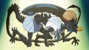 Kill-la-kill-mako-mankanshoku-xenomorph-alien-sailor-uniform-sefuku-tempura