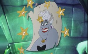 Ursula's poster in The Little Mermaid II- Return to the Sea on Morgana's wall