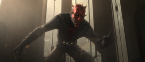 Darth Maul crouch down