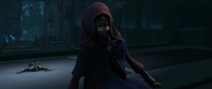 Darth Sidious snarling