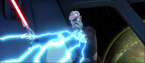 Dooku lightning toss