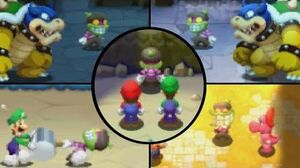 Mario & Luigi Superstar Saga + Bowser's Minions - All Popple Boss Battles (3DS)