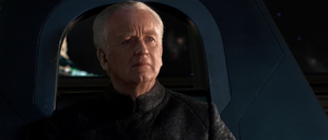 Chancellor Palpatine shackled