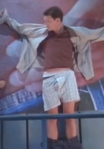 Morgan portrayed by Kevin Crowley on The Drew Carey Show - Billboard revenge in boxers