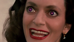 Pamela with purple eyes