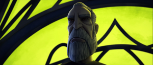 Count Dooku palace grin