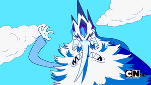 Ice King's menacing glare