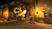 Kratos confronts Basilisk 1st