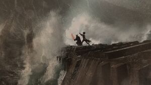 The rise of skywalker art for the Death Star ruins fight 2