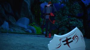 Adam discarding his mask
