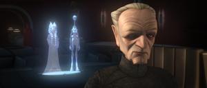 Chancellor Palpatine confers