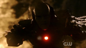 Anti-Monitor attacks Barry inside Speed Force
