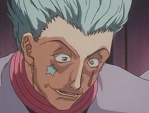 Hisoka tying to calm down