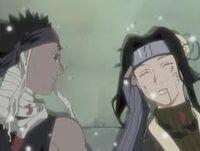 Zabuza dying with Haku