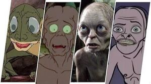 Gollum Evolution in Movies, Cartoons & TV.