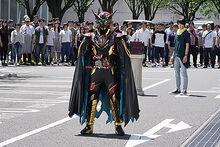 Kamen Rider Blood with crowd