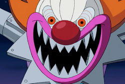 The Clown laughing wickedly