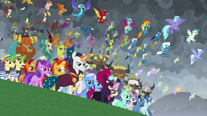 The cavalry of united Equestria arrives S9E25 (1)
