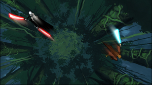 Ventress aerial fight