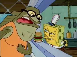 Bubble Bass Spongebob Staredown