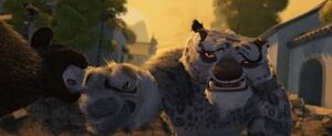 Kung Fu Panda Po Performs The Wuxi Finger Hold On Tai Lung