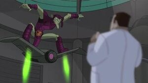 Spectacular Spider-Man (2008) Green Goblin steals Oscorp glider and Tombstone goons