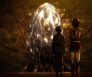 Annie encased in a crystal